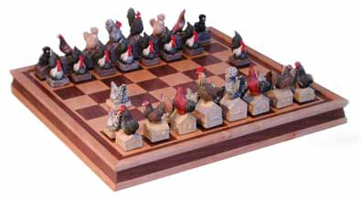 chicken chess sets